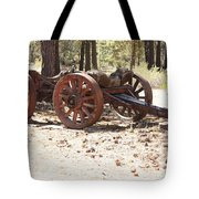 Old Logging Wagon Tote Bag