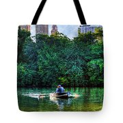 Old Love And Central Park Lake Tote Bag