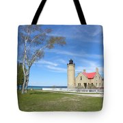 Old Mackinaw Point Light Tote Bag