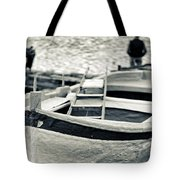 Old Man And Boat Tote Bag
