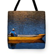 Old Man And His Boat Tote Bag