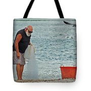 Old Man And The Net Tote Bag
