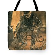 Old Man At The Fireside Tote Bag