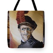 Old Man In Military Costume Tote Bag