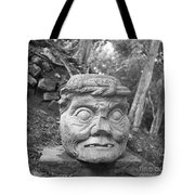 Old Man Of Copan Sculpture, Also Known As The Pauahtun Head From Tote Bag