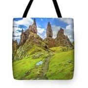 Old Man Of Storr Pinnacles Tote Bag