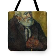 Old Man With A Stick Tote Bag