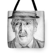 Old Man With Hat Tote Bag