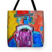 Old Man With Red Bowler Hat Tote Bag