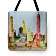 Old Manhattan Tote Bag