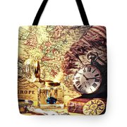 Old Maps And Ink Well Tote Bag
