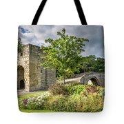 Old Medieval Bridge At Warkworth Tote Bag