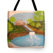 Old Mill And Falls Tote Bag