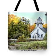 Old Mission Lighthouse Tote Bag