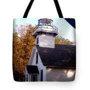 Old Mission Point Light House Tote Bag