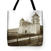 Old Mission Santa Barbara, Cal Circa 1895 Tote Bag