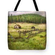 Old Montana Homestead Tote Bag by Sharon Foster