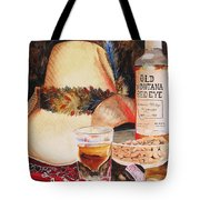 Old Montana Red Eye Tote Bag