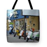 Old Motorcycles Tote Bag