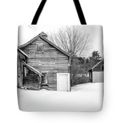 Old New England Barns In Winter Tote Bag