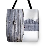 Old New England Barns Winter Tote Bag