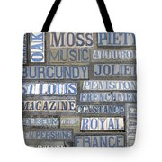Old New Orleans Street Tiles Tote Bag
