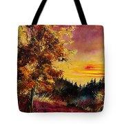 Old Oak At Sunset Tote Bag