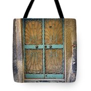 Old Ornate Wrought Iron Door In Venice, Italy  Tote Bag