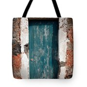 Old Painted Door Tote Bag