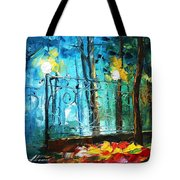 Old Park 2 - Palette Knife Oil Painting On Canvas By Leonid Afremov Tote Bag