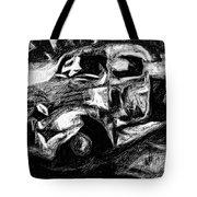 Old Pickup In Winter Tote Bag