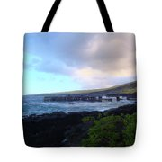 Old Pier At Honuapo Bay Tote Bag