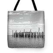Old Pier Provincetown Harbor Cape Cod Tote Bag