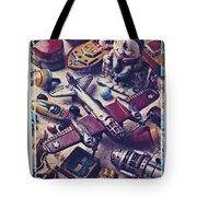 Old Plane And Other Toys Tote Bag by Garry Gay