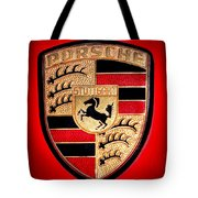 Old Porsche Badge Tote Bag