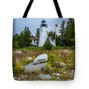 Old Presque Isle Lighthouse Tote Bag