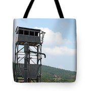 Old Railway Station Equipment For Steam Locomotives Tote Bag