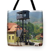 Old Railway Station On Mountain Tote Bag