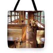 Old Railway Wagon Interior Vintage Tote Bag