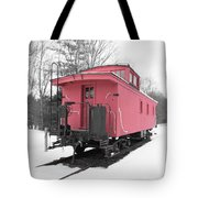 Old Red Caboose Square Tote Bag