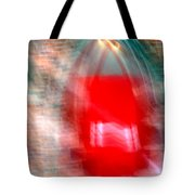 Old Red Door Abstract Tote Bag