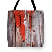 Old Red Paint Tote Bag