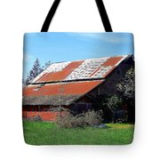 Old Red Photograph Tote Bag