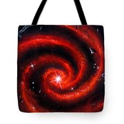 Old Red Spiral Galaxy Tote Bag