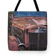 Old Red Truck Tote Bag