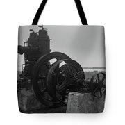 Old Rice Field Pump Bw Tote Bag
