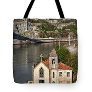 Old Riverside Church In Portugal Tote Bag