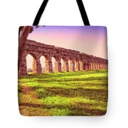 Old Roman Aqueduct Tote Bag