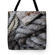 Old Ropes On Dock Tote Bag