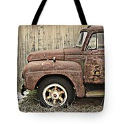 Old Rust Truck Tote Bag